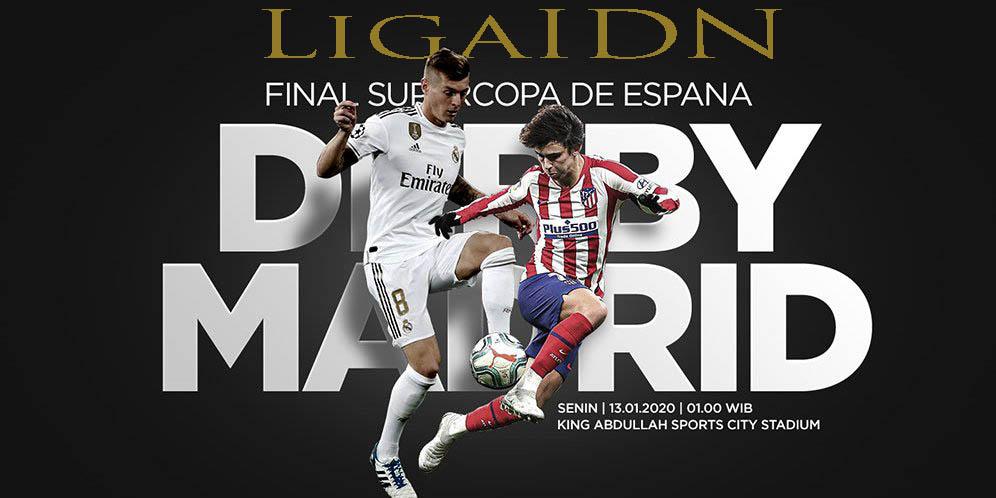 Prediksi Bola Jitu Real Madrid vs Atletico Madrid 13 Januari 2020